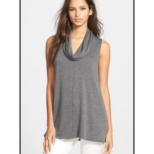 Madison & Berkeley Grey Knit Sleeveless Top